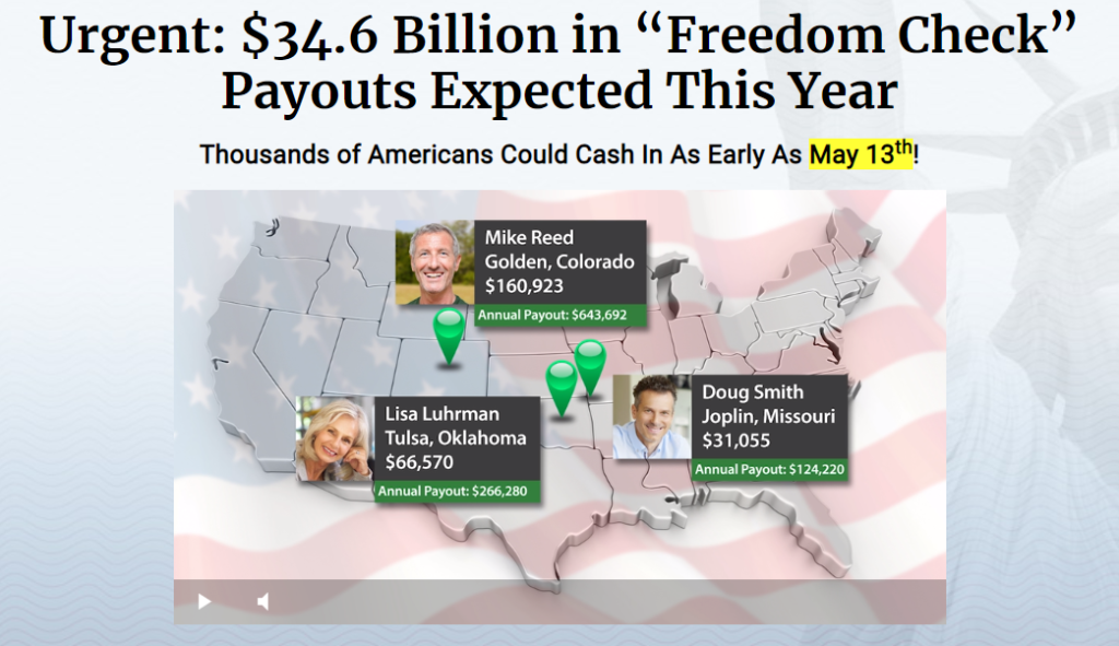Freedom Checks $34.6 Billion