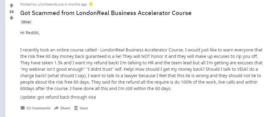 Affiliate Marketing London Real Reddit 1