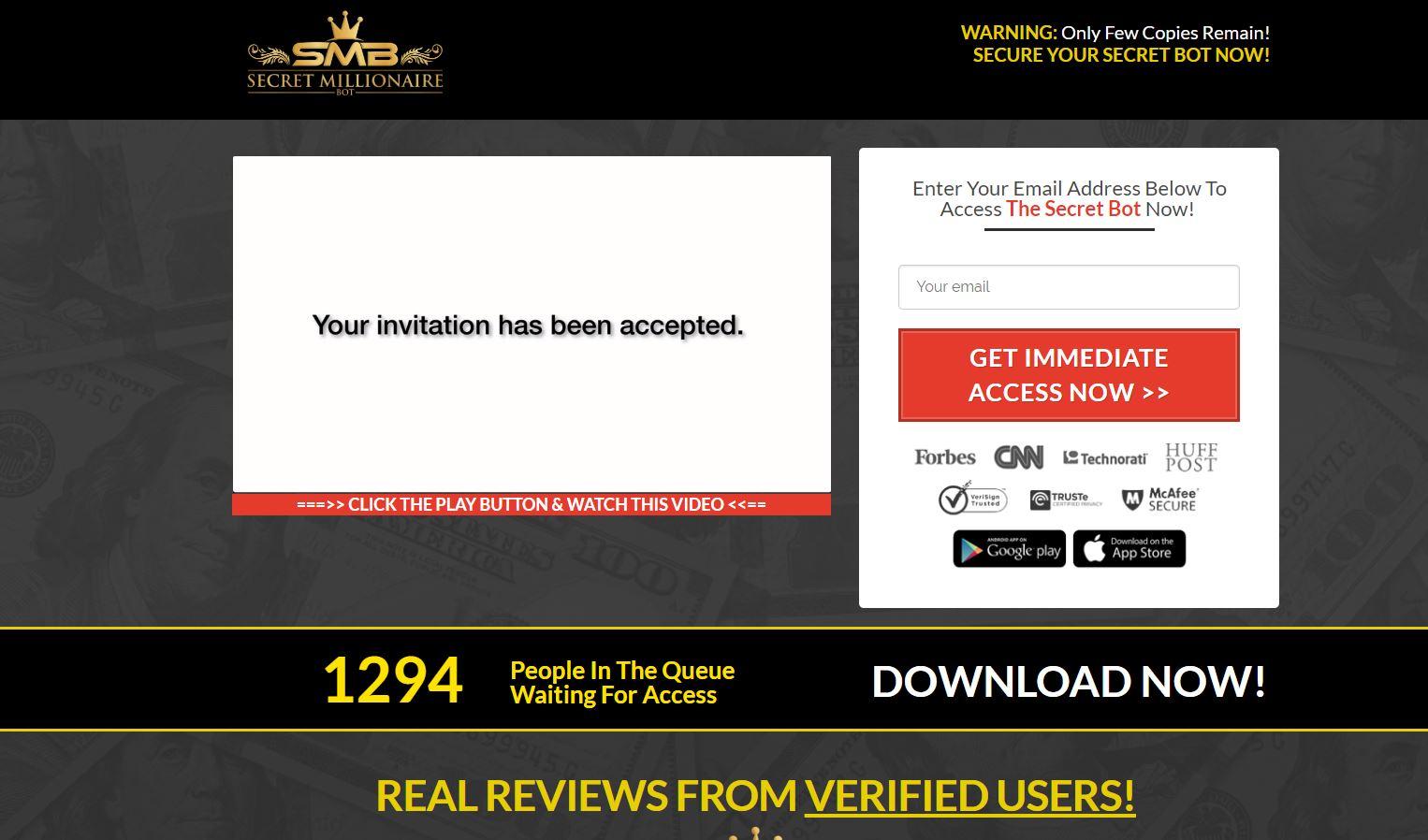 Secret Millionaire Bot – Scam or Legit? - Affiliated Success