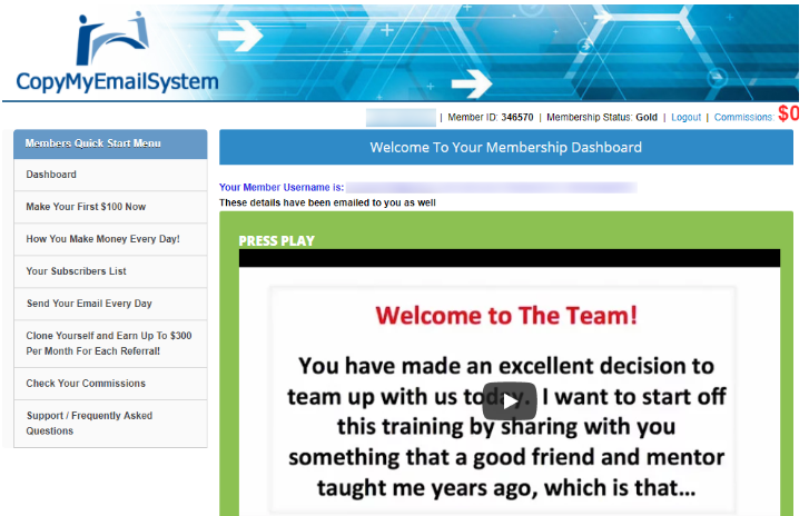 Affiliate Marketers Copy My Email System Back Office