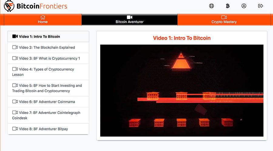 Affiliate Marketing Bitcoin Frontiers Adventurers Course