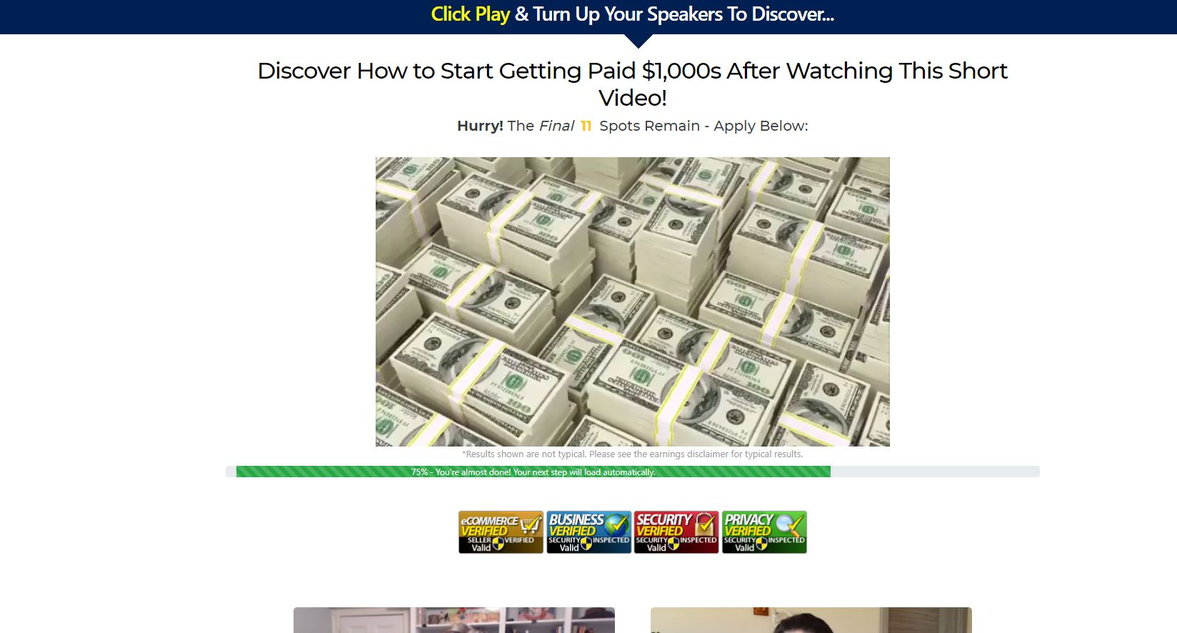 Affiliate Marketing Home Income Millionaire Landing Page