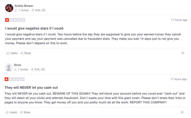 Affiliate Marketing Viral Pay Complaints TrustPilot