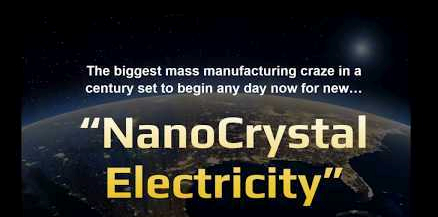 Make Money Online NanoCrystal Electricity Claim