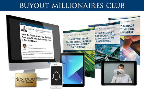 Investment Newletter Millionaire Buyout Club Package Image