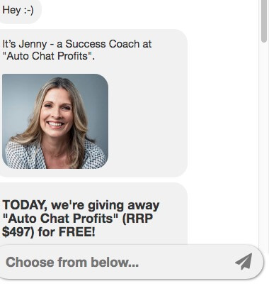 Make Money Online Auto Chat Profits Jenny