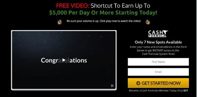 Make Money Online Cash Formula Website