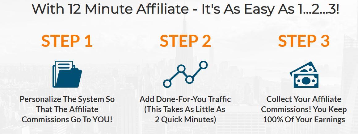Affiliate Marketing 12 Minute Affiliate Step 1 2 3