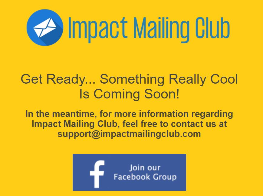 Affiliate Marketing Impact Mailing Club Website