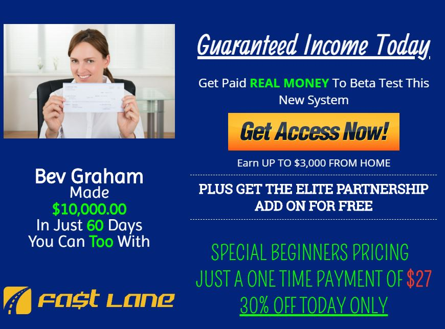 Affiliate Marketing Jeffreys Fast Lane Guarenteed Income
