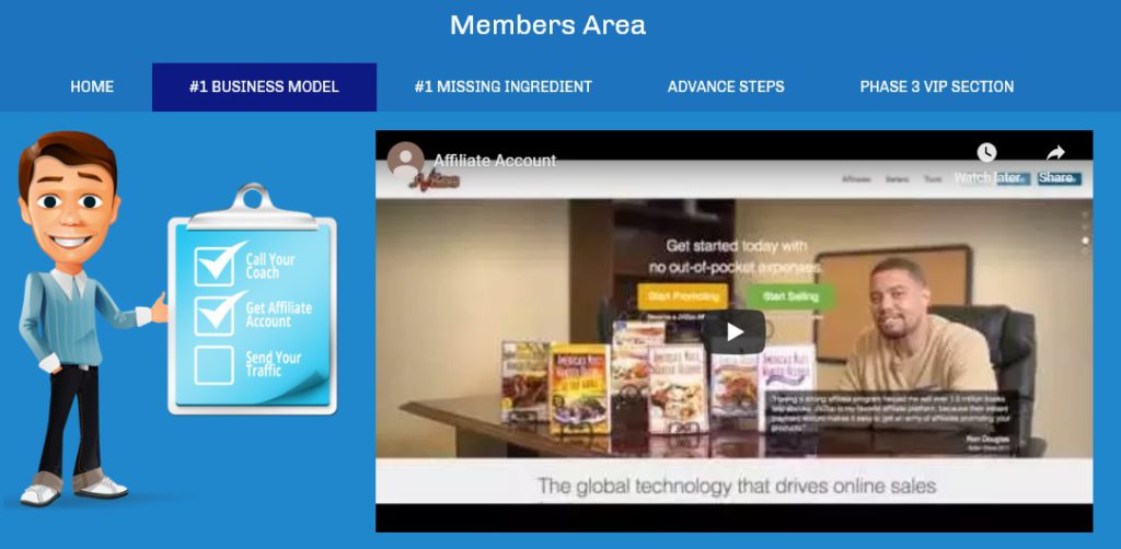 Affiliate Marketing Your New at Home Career Members Area Training