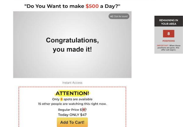 Affiliate Marketing Your New at Home Career Sales Page