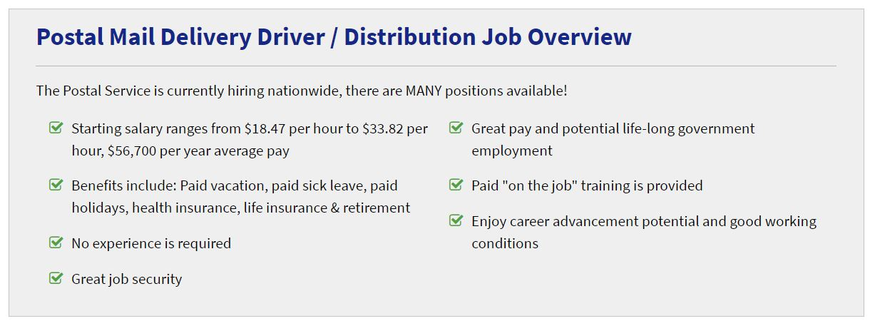 Affiliate Marketing Postal Jobs Pay Rates and Benefits