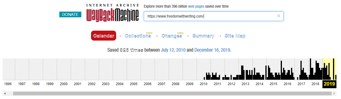 Affiliate Marketing Freedom With Writing Way Back Machine