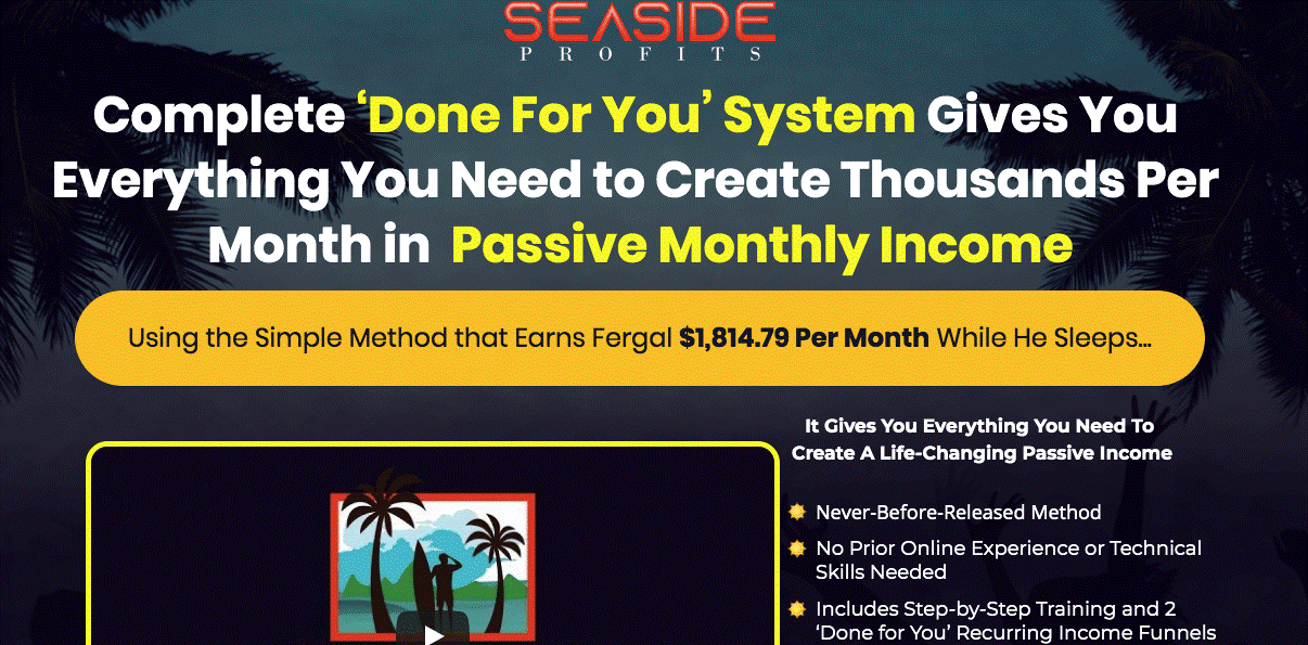 Affiliate Marketing Seaside Profits Done For You
