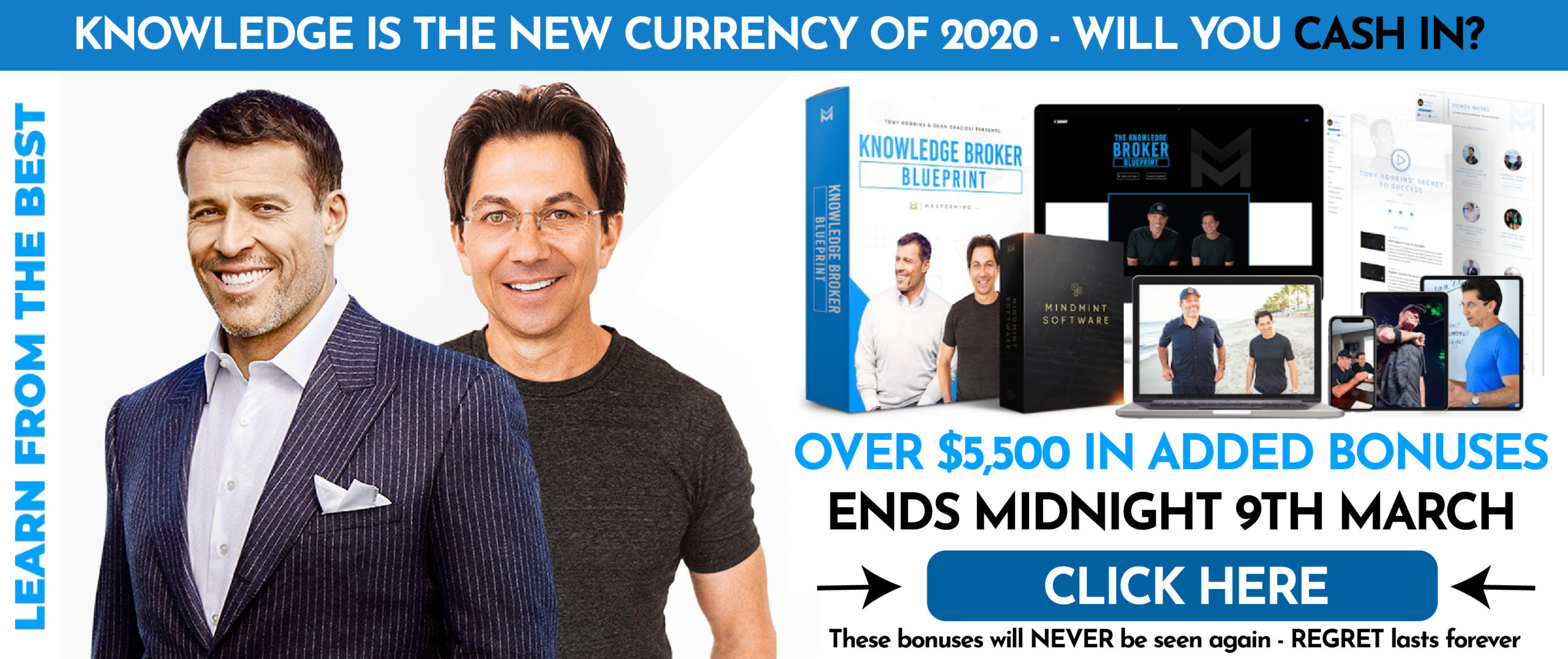Knowledge Business Blueprint Reservation Tony Robins And Dean Graziosi Closing Midnight Sale