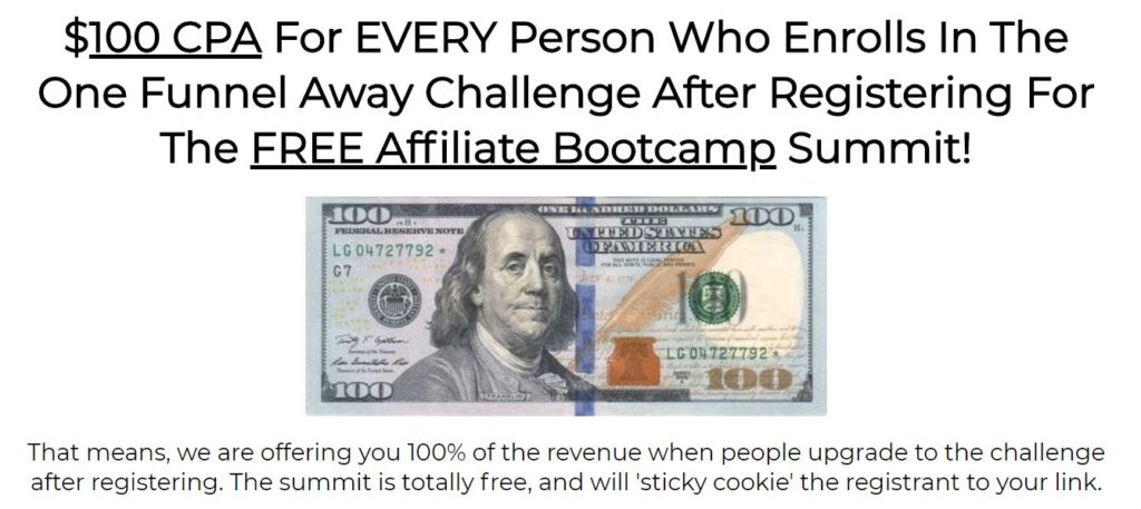 Affiliate Marketing ClickFunnels Affiliate Bootcamp Summit Sales Funnel Commission Breakdown