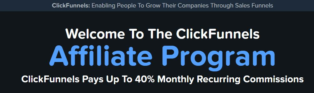 Affiliate Marketing ClickFunnels Affiliate Program Banner