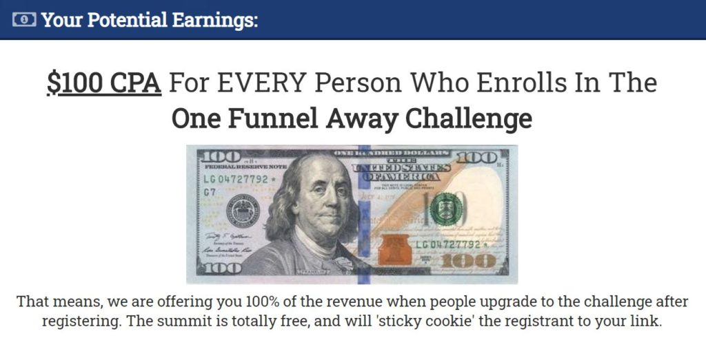 Affiliate Marketing ClickFunnels One Funnel Away Challenge Sales Funnel Commission Breakdown