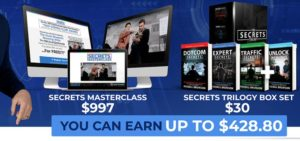 Affiliate Marketing ClickFunnels Secrets Masterclass Sales Funnel Commission Breakdown