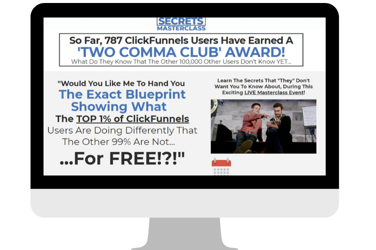 Affiliate Marketing ClickFunnels Secrets Masterclass Sales Banner