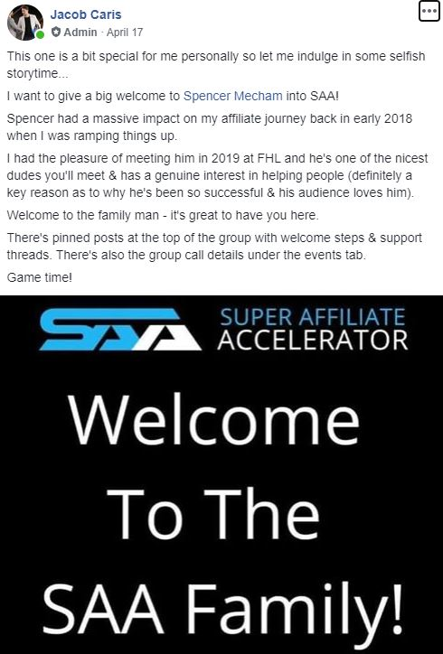 Jacob Caris Super Affiliate Accelerator Review Spencer Mecham
