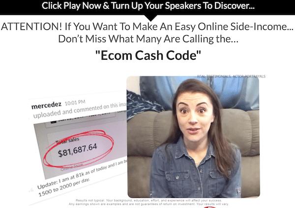 Affiliate Marketing Ecom Cash Code Income Claim Testimonial