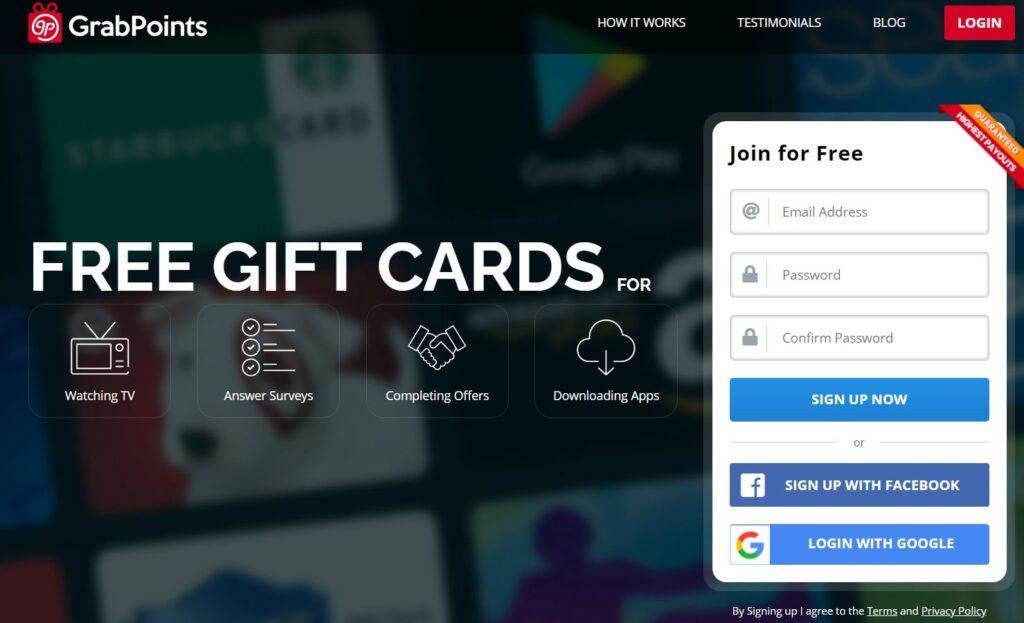 Affiliate Marketing GrabPoints Website
