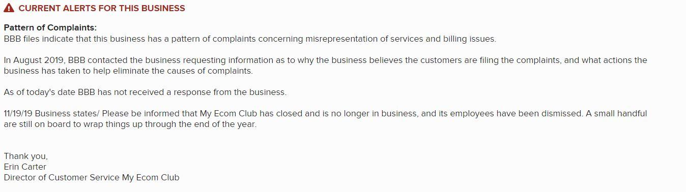 Affiliate Marketing My eCom Club BBS Update Shutdown