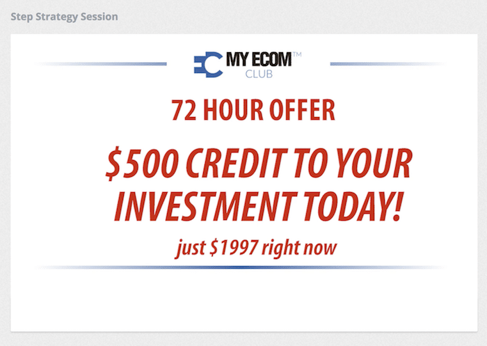 Affiliate Marketing My eCom Club Done For You Offer
