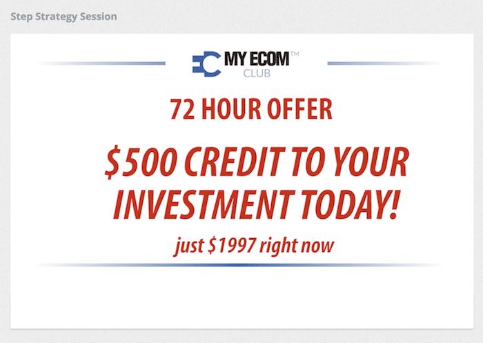 Affiliate Marketing My eCom Club Done For You Offer