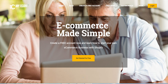 Affiliate Marketing My eCom Club Home Page