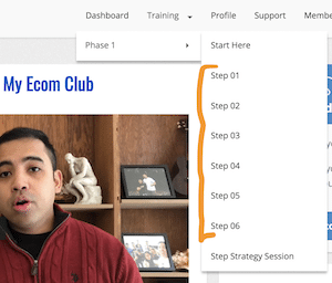 Affiliate Marketing My eCom Club Members Area Free Training