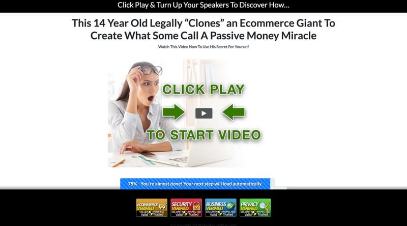 Affiliate Marketing Passive Money Miracle Home Page