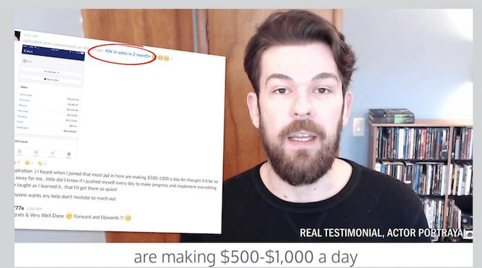 Affiliate Marketing Passive Money Miracle Testimonial Screenshot