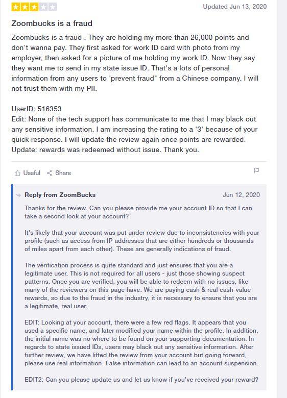 Affiliate Marketing ZoomBucks Trustpilot Negative Review