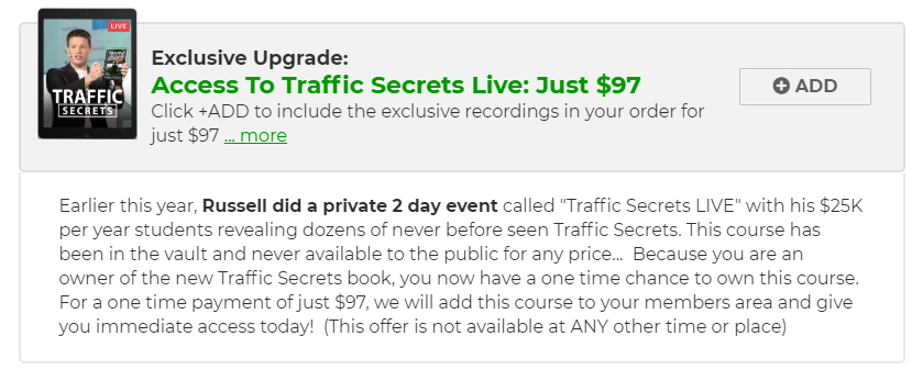 ClickFunnels Traffic Secrets Order Bump #2 Two Day Event